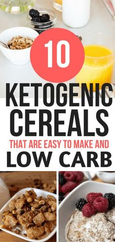These KETO cereal recipes are THE BEST for my weight loss journey. I'm so glad I. - These KETO cereal recipes are THE BEST for my weight loss journey. I'm so glad I. These KETO cereal recipes are THE BEST for my weight loss journey. Ketogenic Recipes, Low Carb Recipes, Ketogenic Diet, Lamb Recipes, Paleo Diet, Chicken Recipes, Cereal Keto, Best Keto Breakfast, Breakfast Cereal