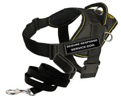 Dean and Tyler Bundle  DT Fun Works Harness Seizure Response Service Dog Yellow Trim Small  Padded Puppy Leash 6 FT Stainless Snap  Black >>> Check out the image by visiting the link.Note:It is affiliate link to Amazon. #50likes