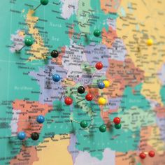 How to build a pin map this one is for travel but i think its a world traveller push pin map gumiabroncs Choice Image