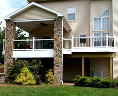 Deck with Stone columns - Picture 1792 - Decks.com
