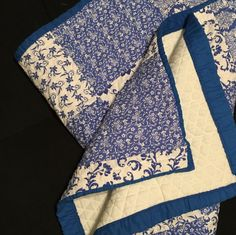 Royal blue and white quilted baby blanket! Unisex - will work in any babys room! Very sweet and classic design. 42 x 31 inches! by fancydollhouse on Etsy https://www.etsy.com/listing/475133689/royal-blue-and-white-quilted-baby