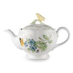 Lenox Butterfly Meadow Teapot, Multi (Porcelain)