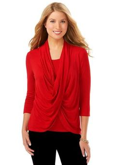 Cato Fashions Drape Twist Front Knit Top #CatoFashions, this shirt, only in black is all I have so far