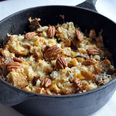 * Bread Pudding with Raisins, Apricots and Cheese ( Capriotada ) * http://www.yummly.com/recipe/Capirotada-_Bread-Pudding-with-Raisins_-Apricots_-and-Cheese_-Serious-Eats-203473?columns=4=22%2F36