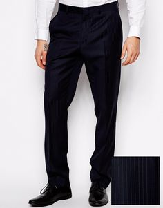 Suit trousers by ASOS Made from wool Zip fly Side slant pockets Standard hem Slim fit