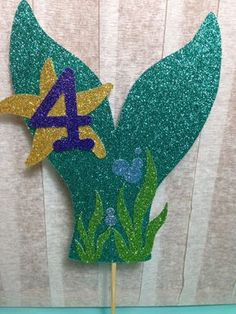 Mermaid Tail Cake Topper (Under the Sea Party, Mermaid Theme, Glitter Decorations, First Birthday) Mermaid Theme Birthday, Little Mermaid Birthday, Little Mermaid Parties, The Little Mermaid, Birthday Party Themes, Girl Birthday, Birthday Ideas, Cake Birthday, Mermaid Tail Cake