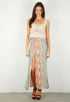 Lovers + Friends Love Stone Maxi Skirt in Springtime Floral