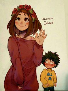 Uraraka Ochako and Midoriya Izuku My Hero Academia Memes, Buko No Hero Academia, Hero Academia Characters, My Hero Academia Manga, Manga Disney, Uraraka Cosplay, Character Art, Character Design, Bakugou And Uraraka