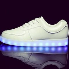 Chaussures Lumineuses blanches plates