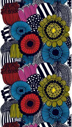 Siirtolapuutarha (Flower Garden), Design: Maija Louekari for Marimekko    >>>NICE idea!