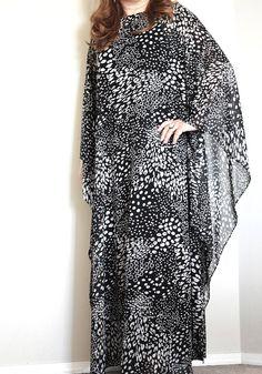 Luxury caftan abaya silk chiffon