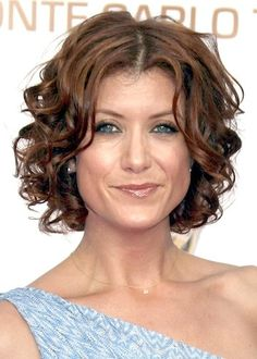 short curly hair...just would need a little curling iron action in the am!?