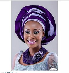 Gorgeous African woman in gele #headwrap