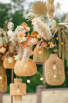 The cornerstone of any inspiring wedding is the authenticity of the love that's shared, and these backyard nuptials are chock full of infectious laughter and tender moments between husband and wife. From the sunset colored flowers that created a modern boho ceremony backdrop to the al fresco dinner illuminated by woven rattan pendants and textured pampas grass, this at-home microwedding is leaving us starry-eyed. Mod Wedding, Our Wedding Day, Wedding Blog, Floral Wedding, Wedding Reception Centerpieces, Wedding Decorations, Table Decorations, Wedding Trends, Wedding Designs