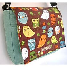 @Overstock.com - Two Trees Designs Mint Owls Medium Messenger Bag  - Featuring several pockets for items large and small, this stylish canvas bag from Two Trees Designs is great for everyday use. This messenger bag showcases a fashionable art print of a variety of owls on a brown background.  http://www.overstock.com/Main-Street-Revolution/Two-Trees-Designs-Mint-Owls-Medium-Messenger-Bag/6499791/product.html?CID=214117 $28.99