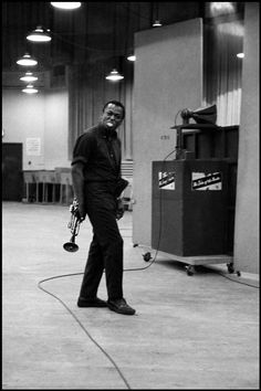 Miles Davis during a record session at Columbia Records, NYC. 1958 Dennis Stock © Dennis Stock/Magnum Photos