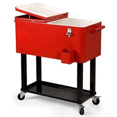 LTL Shop Patio Cooler Rolling Outdoor 80 Quart Solid Steel Construction ** To view further for this item, visit the image link.(This is an Amazon affiliate link and I receive a commission for the sales)
