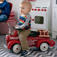 Fire Engine Speedster  | The Land of Nod:: Schylling ride-on toy