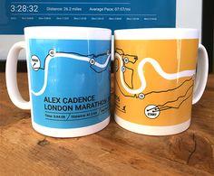 London Marathon Route Mug