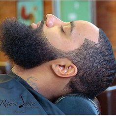 Black Men's Hairstyles That will keep you looking Fresh - Goteo I Love Beards, Black Men Beards, Awesome Beards, Bad Beards, Beard Fade, Sexy Beard, Black Men Haircuts, Black Men Hairstyles, Beard Styles For Men