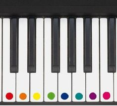 How to teach young children to play music keyboard using coloured stickers #playpiano