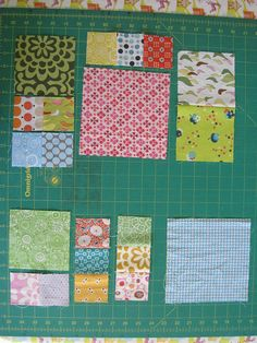 """12"""" finished size blocks, Magic Numbers Quilt, 6-1/2"""", 4-1/2"""", 2-1/2"""" squares.  These all nest together once sewn to produce rectangle or square blocks, panels or columns, you just need to think a little ahead to figure out the best method of construction."""