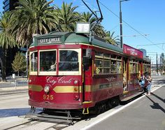 Melbourne's famous 'W' Class City Circle tram takes tourists on a free tour around the CBD. This SW6 No. 925 was built in 1949.