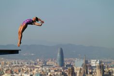 Alejandra Orozco of Mexico competes in the Women's 10m Platform Diving final  on day six of the 15th FINA World Championships at Piscina Municipal de Montjuic on July 25, 2013 in Barcelona, Spain.