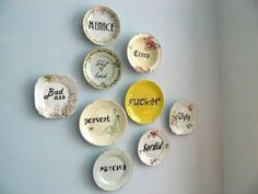 New Zealand's Trixie Delicious store sells vintage china with rude calligraphy - Lost At E Minor: For creative people
