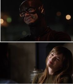 two entirely different scenes But the SAME smile, perhaps they didn't even realize it! #snowbarry #granielle