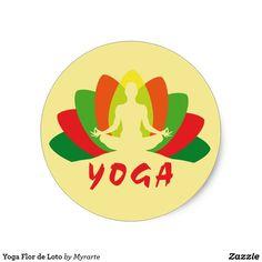Yoga Flor de Loto. Producto disponible en tienda Zazzle. Product available in Zazzle store. Regalos, Gifts. #sticker #yoga
