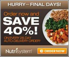 Nutrisystem.  Love it.  Down 27lbs and a few more to go.