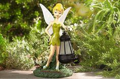 Tinkerbell With Solar Lantern for garden, lawn, deck or patio.