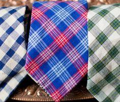 Red & Blue Plaid Necktie