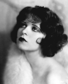 """Clara Bow - silent film star and flapper sex symbol known as the """"it girl"""". My grandma was also named Clara Bow, not the same person Old Hollywood, Hollywood Glamour, Classic Hollywood, Louise Brooks, Vintage Hairstyles, Bob Hairstyles, Wedding Hairstyles, Pelo Vintage, Clara Bow"""