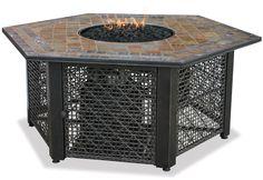 LP Gas Outdoor Firebowl w/ Slate Tile Mantel by Endless Summer GAD1374SP