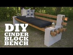 This video is a great example of how many DIY projects are so easy anyone can do it. For this project, all you need are some cinder blocks and 4x4s.