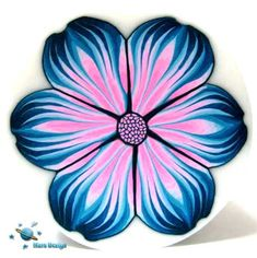TUTORIAL  EXOTIC flower cane  pdf polymer clay cane by marsdesign,