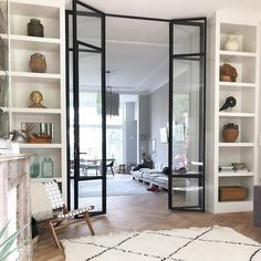 Interior french doors add a beautiful style and elegance to any room in your home. Sliding Door Room Dividers, Partition Door, Room Divider Doors, Interior Sliding Glass Doors, Living Room Divider, Internal Bifold Doors White, Internal French Doors, Internal Glass Sliding Doors, Casa Loft