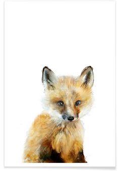 Little Fox als Premium Poster von Amy Hamilton | JUNIQE