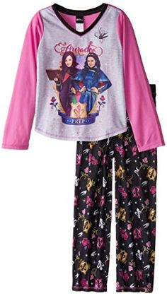 Long sleeve/long leg Flame resistant Extra-soft Descendants Big Girls' Auradon Prep 2-Piece Pajama Set