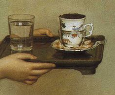 Researching Food History - Cooking and Dining: Chocolate by Liotard Her tray has a cup with cocoa in a silver mancerina holder, and a glass of water. Bakers Chocolate, Chocolate Girls, How To Make Chocolate, Chocolate Coffee, History Of Chocolate, Layer Paint, Chinoiserie, Female Art, Picture Quotes