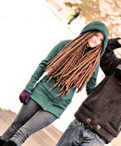 I love this girl's dreadlocks.