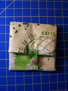 simple Tutorial for folding grocery tote bag  Einfache Anleitung für faltbare Einkaufstasche