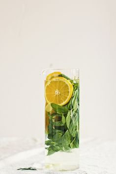 ... citrus water with mint and ginger ...