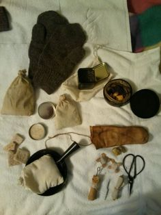 Re-enactor's kit for a scout in the Ohio Valley circa 1775