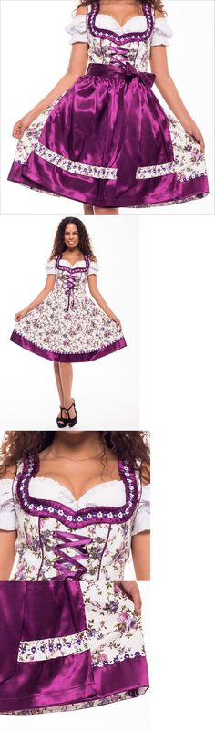 Dirndls 163143: New!Germany,German,Trachten,May,Oktoberfest,Dirndl Dress,3-Pc.,Sz 16 D.Purple.Us -> BUY IT NOW ONLY: $54.99 on eBay!