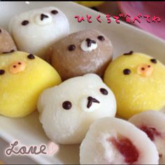 Rilakkuma cream Daifuku - going to ask our Japanese grocery if they can get some stuff like this in...