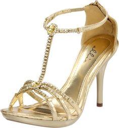 01fa8657bcae81 4 Inch High Heel Sexy Shoes Rhinestone T-Strap Sandals Women  Dress Sandals