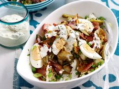 "[Smashed potato salad](http://www.foodtolove.com.au/recipes/smashed-potato-salad-13832|target=""_blank"")"